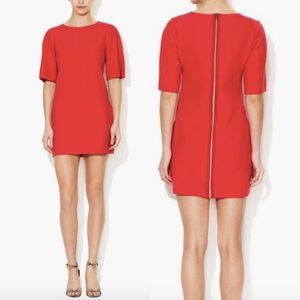 Maje Aure Dress in Poppy Red
